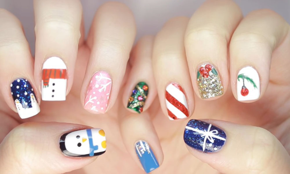 10 Christmas Nail Art Designs For Beginners Victorias Glamour