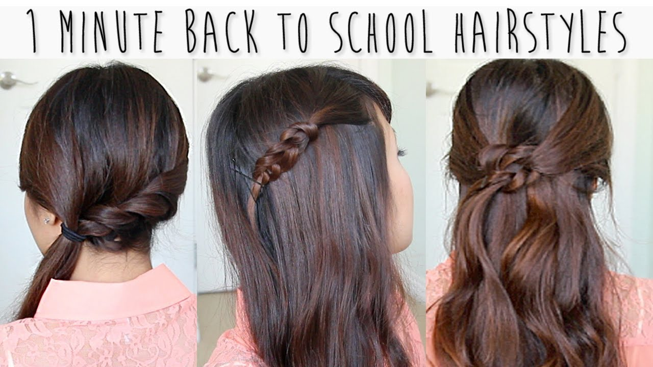 Collection Of Easy Hairstyles For School - Victoria\'s Glamour