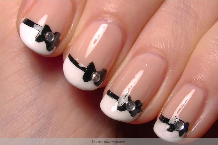 Chic and classy bow nail art for the girly girl in you chic and classy bow nail art for the girly girl in you prinsesfo Gallery