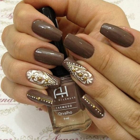 You WIll Want To Try These Brown Nail Designs - You WIll Want To Try These Brown Nail Designs - Victoria's Glamour