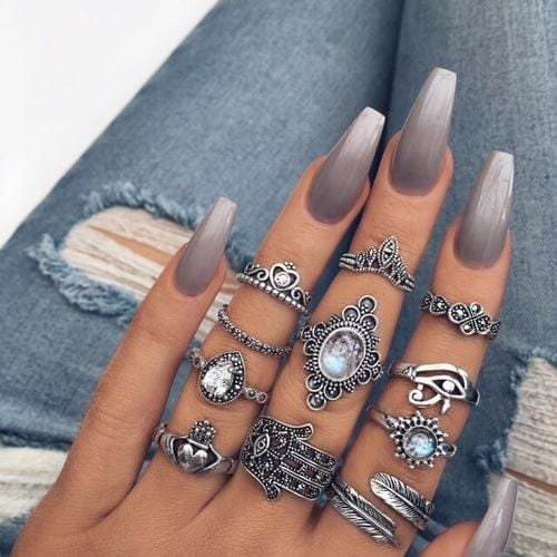 15 Gray Nail Designs To Make You Stand Out - 15 Gray Nail Designs To Make You Stand Out - Victoria's Glamour