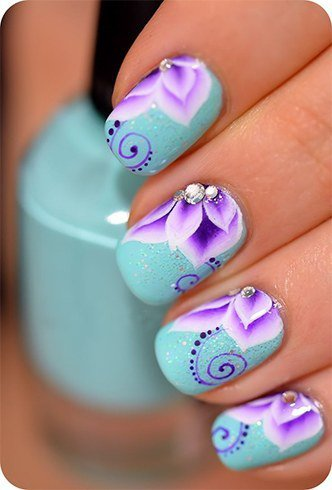 10 beautiful nail art designs just for you hello pretty nails flower design nail art another professional prinsesfo Images