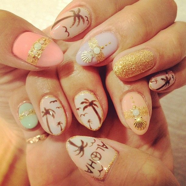 Hot Tropical Nail Designs For The Summer - Hot Tropical Nail Designs For The Summer - Victoria's Glamour