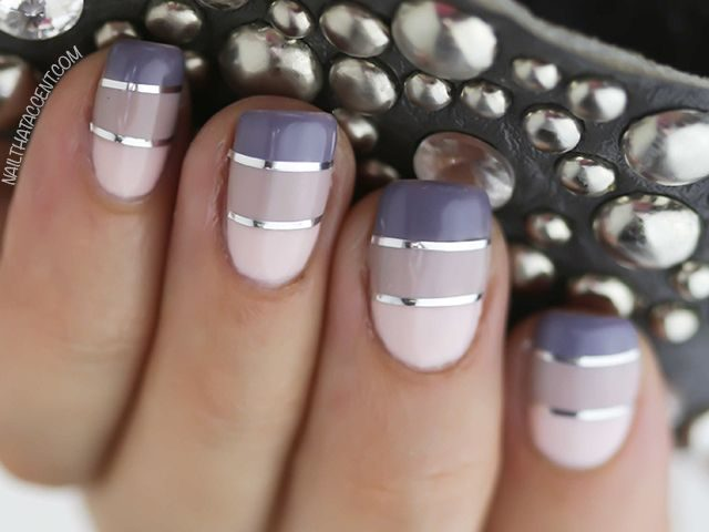 15 Interesting Nail Designs With Striping Tape - 15 Interesting Nail Designs With Striping Tape - Victoria's Glamour