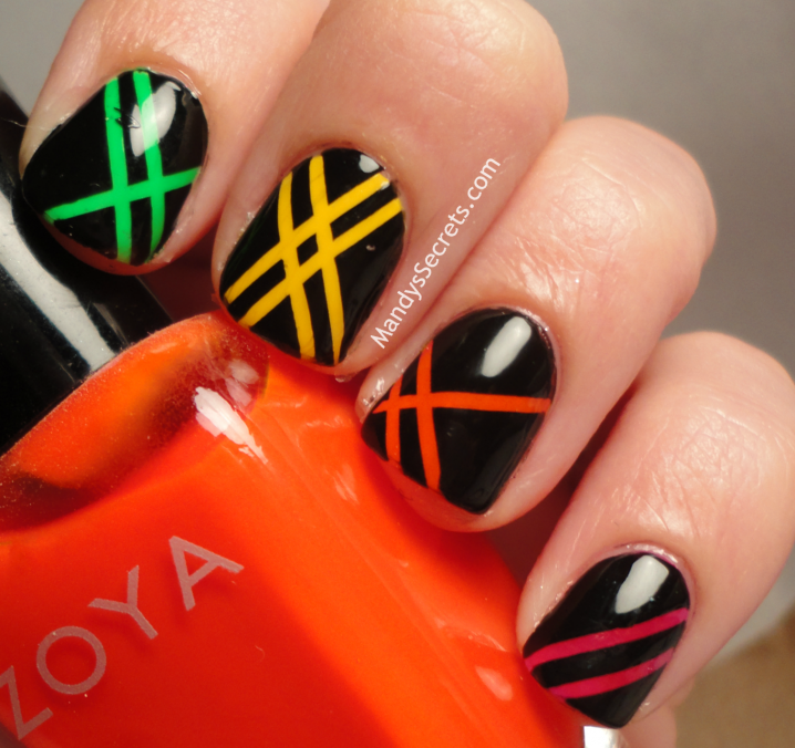Choose between the hundred colors of nail polishes and make some super cool nail  design with a striping tape. And now, scroll down to find our ideas and ... - 15 Interesting Nail Designs With Striping Tape - Victoria's Glamour
