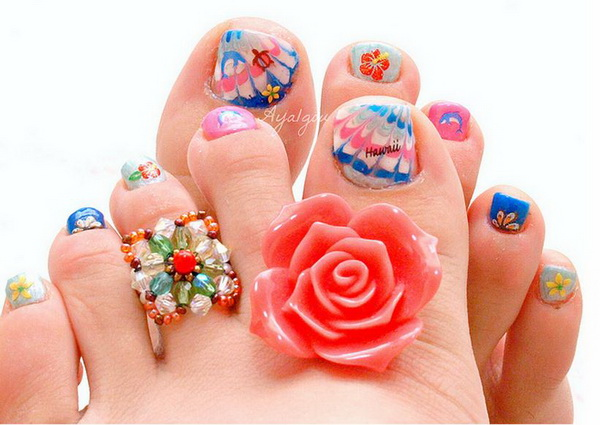 Toe Nail Art Designs Victorias Glamour
