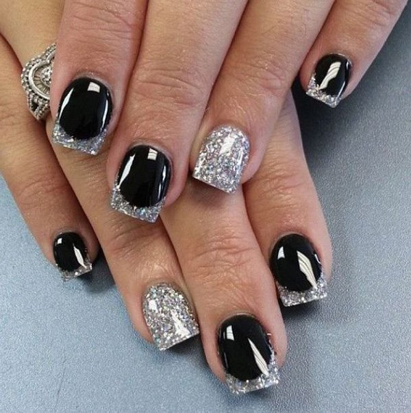Examples of black and white nail art victorias glamour white nails designs source cuded prinsesfo Images