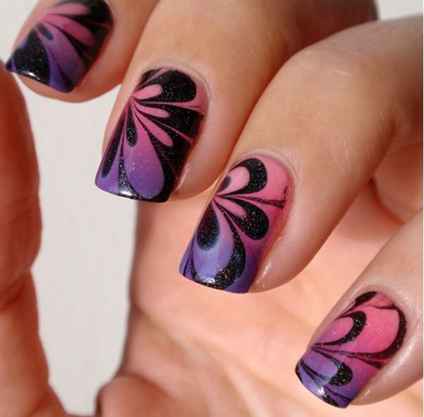 Water Marble Nail Art Design - Victoria\'s Glamour