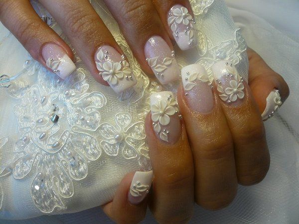 16 wedding manicure ideas for a unique wedding day victorias 16 wedding manicure ideas for a unique wedding day prinsesfo Choice Image